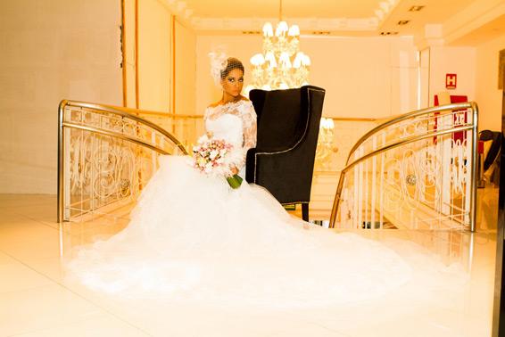 Mayra Cardi com seu vestido Maison Sposare.Fonte: Reprodução/Vestida de MS