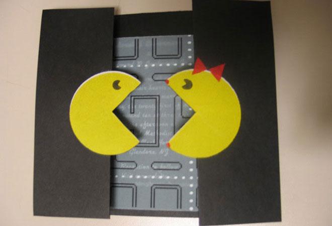Convite de casamento Pacman super criativo.Fonte da imagem: Reprodução/Web Designer Depot