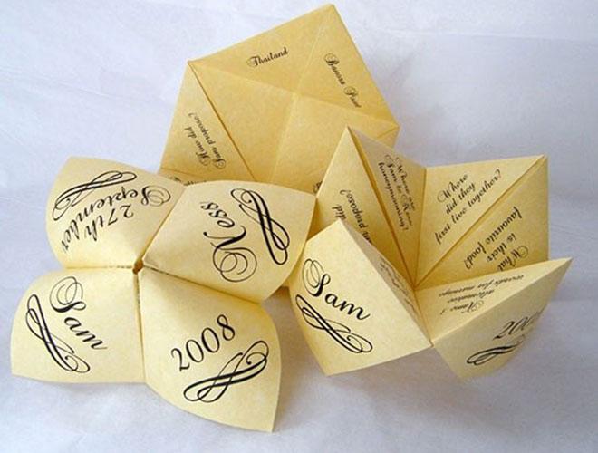 Convite de casamento Origami divertido.Fonte da imagem: Reprodução/TWC