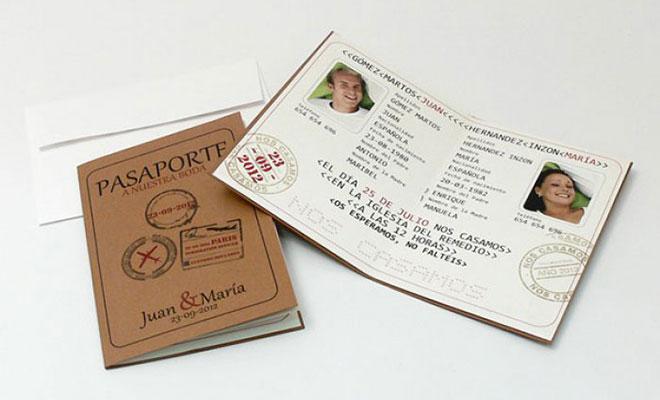 Convite de casamento Passaporte Divertidíssimo Completo.Fonte da imagem: Reprodução/Fashion Bodas