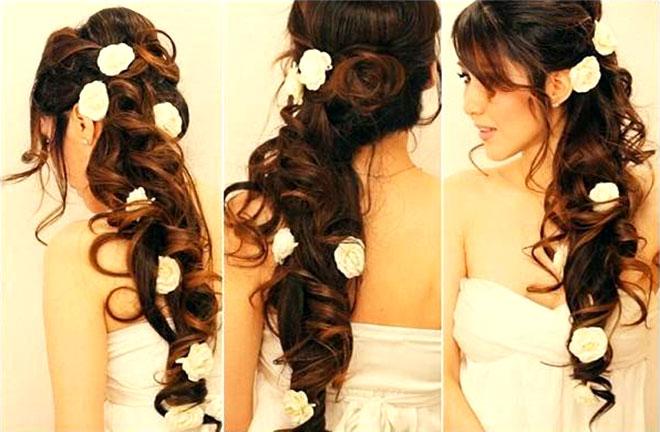 Penteados para Noivas com rosas são lindos demais!Fonte da imagem: Reprodução/Hairstyles Inspiration