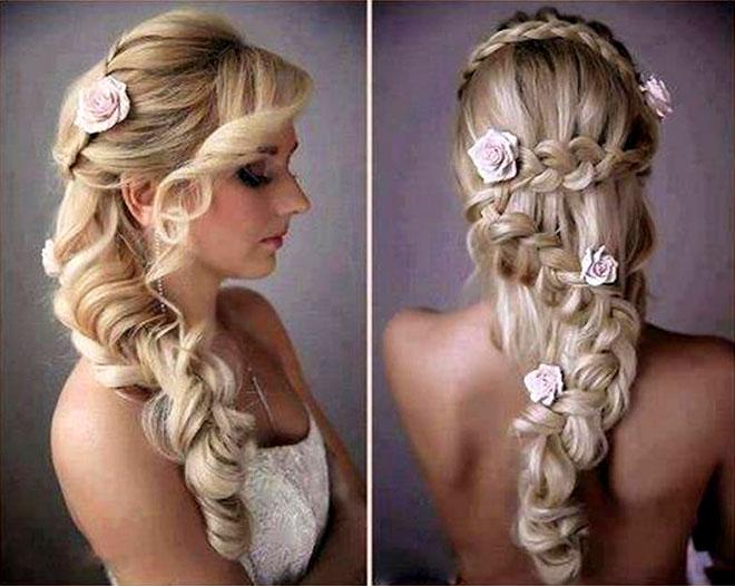 Esse penteado arrasou, super lindo e parece um penteado de princesa.Fonte da imagem: Reprodução/peinar.me