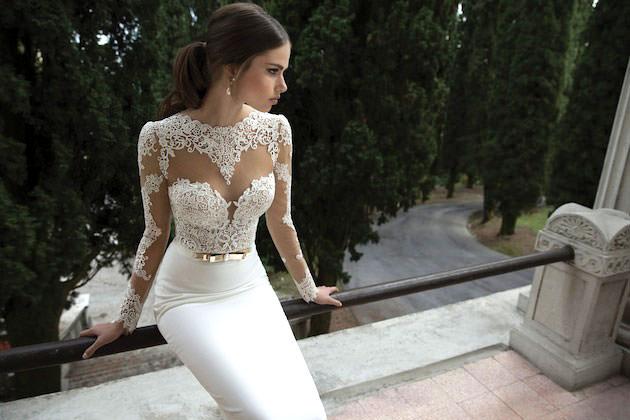 Vestido de noiva 2014 super luxuoso e moderno, amei esse bordado.Fonte da imagem: Reprodução/Bridal Musings