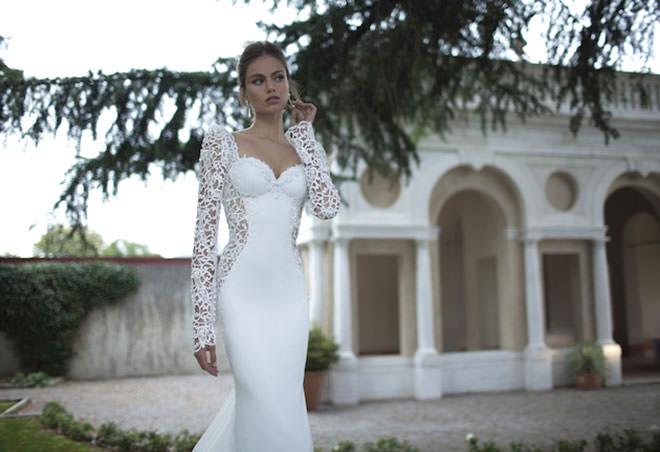 Bordado super fino e maravilhoso nesse vestido de noiva estilo sereia.Fonte da imagem: Reprodução/Bridal Musings