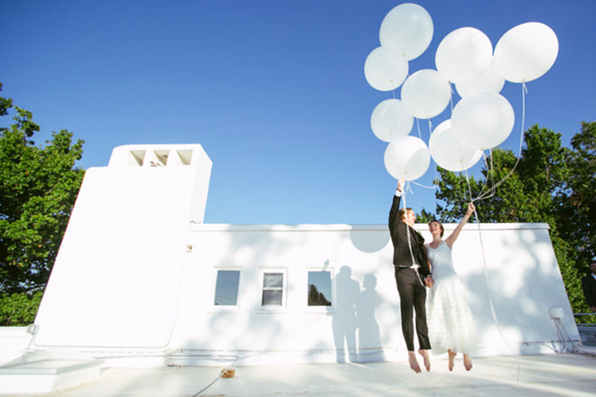 Fotos de Casamento com balões são lindas e apaixonantes.Fonte da imagem: Reprodução/BuzzFeed