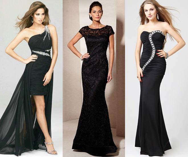 Vestido para festa de casamento pode ser preto
