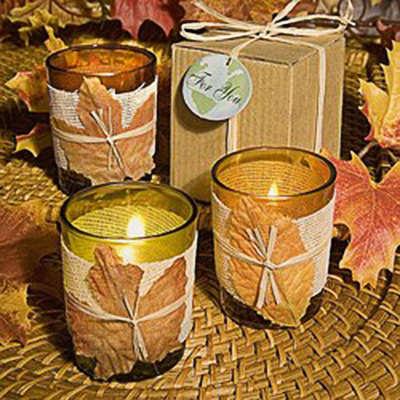 Adorei esses copos enfeitados com velas, um luxo só.Fonte da imagem: Reprodução/PRWeb