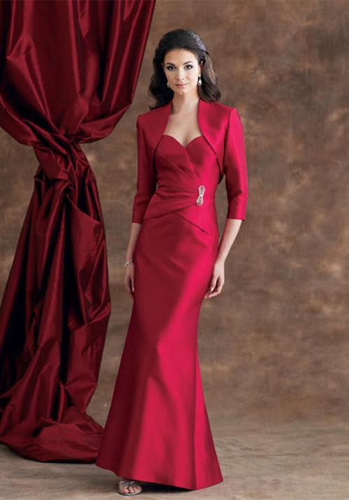 Vestidos para Mãe da Noiva: Um vermelho super discreto e elegantíssimo.Fonte da imagem: Reprodução/updatefashion