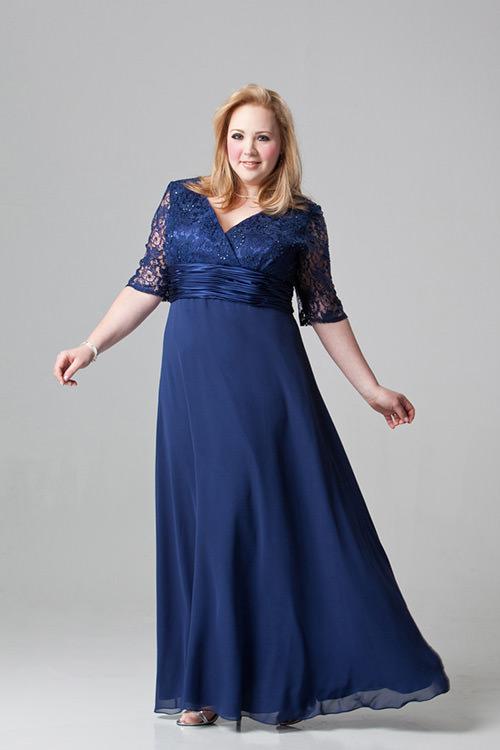 Vestidos para Mãe da Noiva: Adorei a combinação com a renda, e o azul é o novo preto né meninas?Fonte da imagem: Reprodução/Dresses images and questions.
