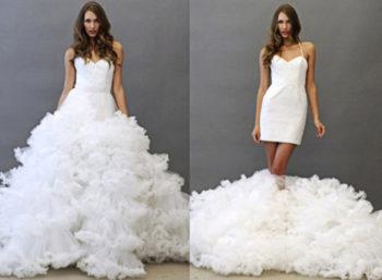 Modelos de Vestidos para Casamento: Second Dress, Arrase com Dois Vestidos em um Só!