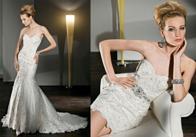 Reparem que no Second Dress tiraram a barra e colocaram um cintinho mara!!Fonte da imagem: Reprodução/WEDDINGS ILLUSTRATED