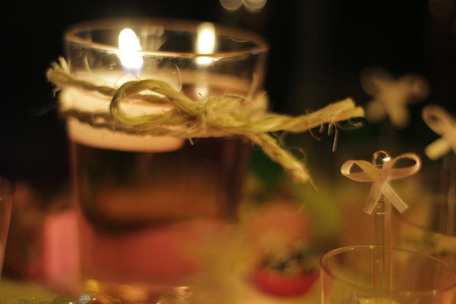Adoro usar velas flutuantes! São super charmosas