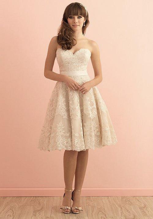 Adoro vestidos de noiva curtos e tomara que caia