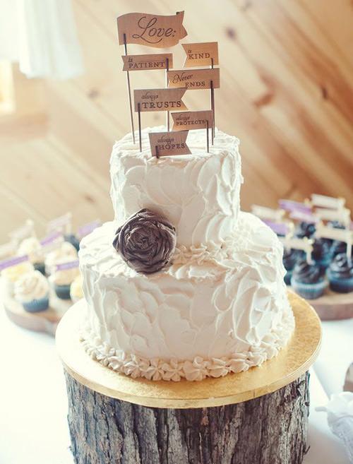 Não esqueça de colocar um tábua entre o bolo e o tronco hein?! rs