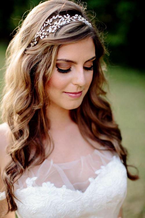 penteados solto com tiara com cabelo