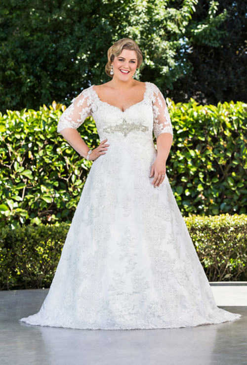 Vestidos de Noiva Plus Size todo rendado são puro amor