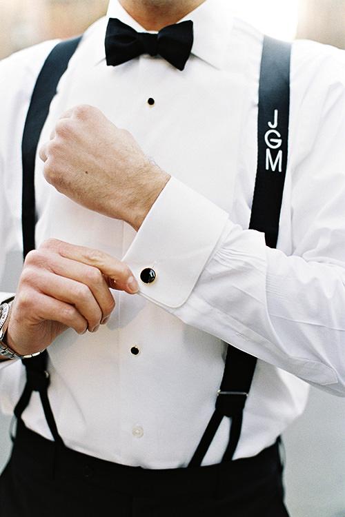 Gravata borboleta com suspensório é chique demais. Amo