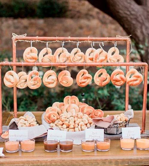 Se você também ama pretzels, não pode faltar no seu casamento